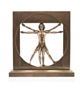 Vitruvian man of Leonardo Da Vinci — Stock Photo