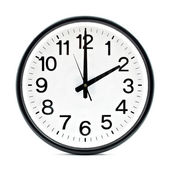 Black wall clock — Stockfoto