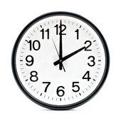 Zegar ścienny czarny — Zdjęcie stockowe
