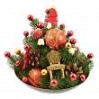 Christmas and New Year decorations — Stok Fotoğraf #23634863