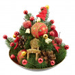 Christmas and New Year decorations - Stock Photo