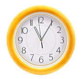 Wall clock over white — Stockfoto