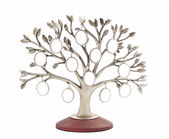 Silver genealogical family tree with small oval frames — Stock Photo