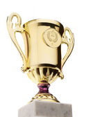 Gold trophy cup — Stock Photo