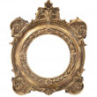 Stock Photo: Oval vintage gold frame