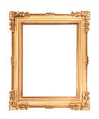 Empty golden vintage frame — Stock Photo