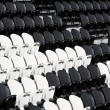 Seat in football stadium — ストック写真