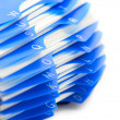 Blue organizer by letters — Stock Photo
