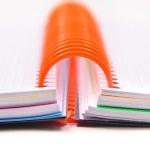 Notebooks with orange spring — Stock Photo #29397787