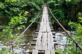 Old wood bridge — Stock Photo