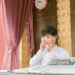 Hotel receptionist — Stock Photo