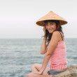 Stock Photo: Girl at sea...