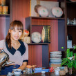Tea ceremony in tea firm... — Stock Photo