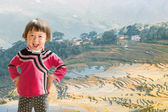 Childrens of rice terraces — Stock Photo