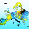 Europe map — Stock Photo