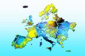 Europe map — Stock Photo