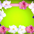 Royalty-Free Stock Photo: Spring flowers frame