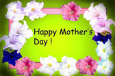 Happy mothers day spring flowers frame — Stockfoto