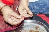 Prayer indian way — ストック写真