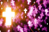 Abstract cross light background — Stock Photo