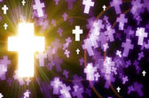 Abstract cross light background — ストック写真