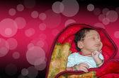 New born baby sleeping — Stock Photo