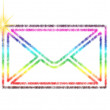 Abstract colorful envelope — Stock Photo