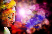 Colorful statue of budha  — Stock Photo
