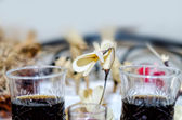 Fond de verre de boisson fraîche vin — Photo
