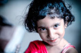 Portrait of  smiling girl child  — Photo
