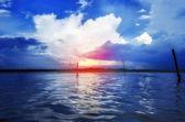 Sunset sunrise waterscape landscape — Stock Photo