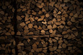 Stored wood for the winter. — Stock Photo
