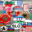 Stock Photo: Country stickers