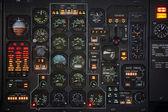 Plane panel — Stock Photo