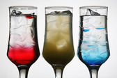 Colored cocktails — Stock Photo