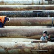 Stock Photo: Construction pipe works