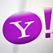 Yahoo logo — Stock Photo