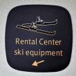 Ski rental center — Stock Photo