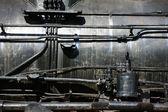 Steam locomotive engine — Stock Photo