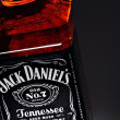 Stock Photo: Jack Daniel's whiskey bottle detail
