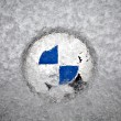 Frozen BMW logo — Stock Photo