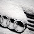 Winter Audi logo — Stock Photo