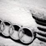 Winter Audi logo — Stock Photo