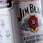 Jim Beam bourbon whiskey bottle — Stock Photo #18287181