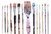 Dirty brushes — Stock Photo