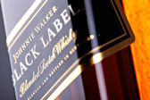 Johnnie Walker black label whiskey — Stock Photo