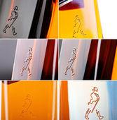 Uísque de tarja preta do johnnie walker — Fotografia Stock