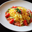 Tagliatelle with salmon - Photo