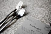 Dinner menu — Stock Photo