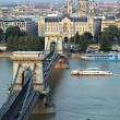 Budapest chain bridge — Stockfoto